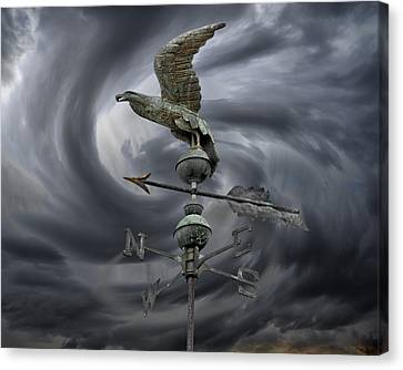 Weathervane Canvas Print by Steven  Michael