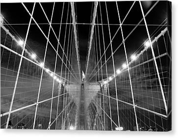 Web Of The Brooklyn Bridge Canvas Print by Kenan BUYUK SUNETCI