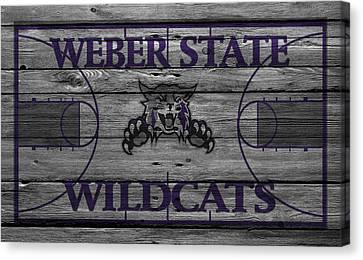 Weber State Wildcats Canvas Print by Joe Hamilton