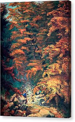 Webster's Falls Canvas Print by Hanne Lore Koehler