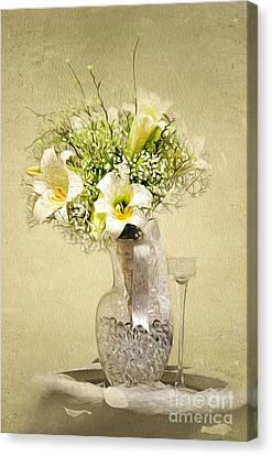 Wedding Bouquet Canvas Print by Lena Auxier