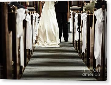 Wedding In Church Canvas Print by Elena Elisseeva