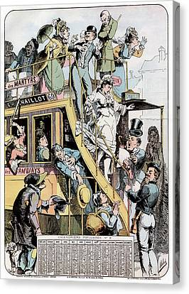 Wedding On A Tram Canvas Print by Cci Archives