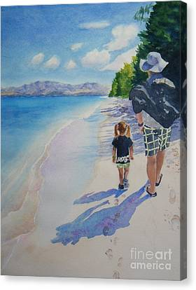 weekend stroll -SOLD Canvas Print by Lisa Pope