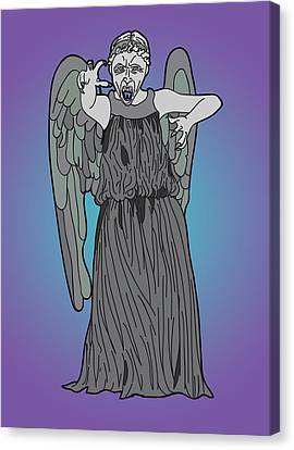 Weeping Angel Canvas Print by Jera Sky