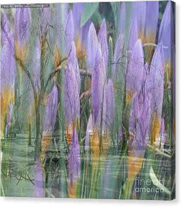 Weeping Flowers Canvas Print by PainterArtist FIN