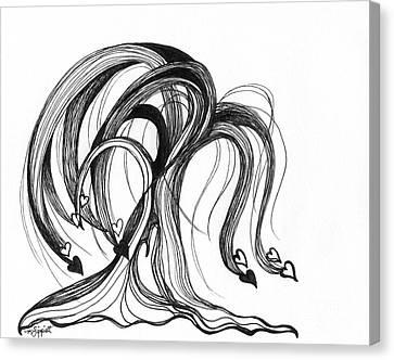 Weeping Willow Tree Canvas Print by Minnie Lippiatt