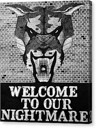 Welcome Canvas Print by Daniel P Cronin