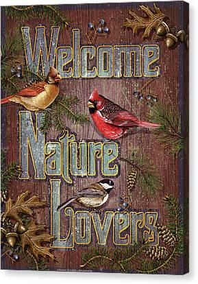 Welcome Nature Lovers 2 Canvas Print by JQ Licensing