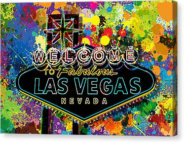 Welcome To Las Vegas Canvas Print by Gary Grayson