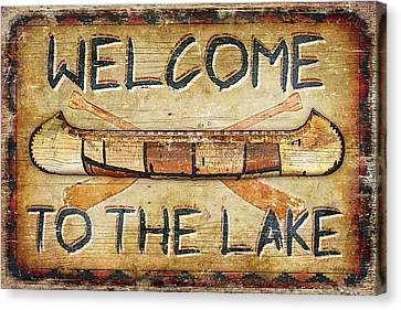 Welcome To The Lake Canvas Print by JQ Licensing