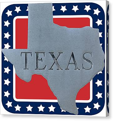 Welcome To The State Of Texas Canvas Print by Christine Till