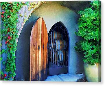 Welcome To The Winery Canvas Print by Elaine Plesser