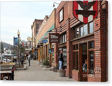 Welcome To Truckee California 5d27445 Canvas Print by Wingsdomain Art and Photography