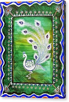 Welcoming Rain Canvas Print by Anjali Vaidya