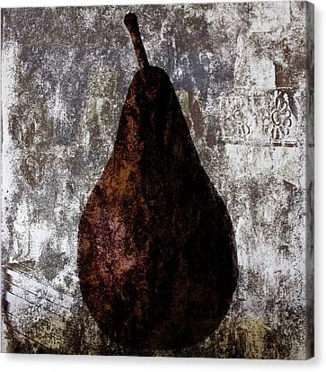Well-read Pear Canvas Print by Carol Leigh