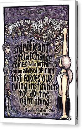 Wellstone Canvas Print by Ricardo Levins Morales
