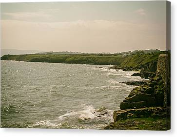 Welsh Coast By Moelfre Canvas Print by Georgia Fowler