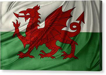 Welsh Flag Canvas Print by Les Cunliffe