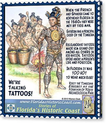 We're Talking Tattoos Canvas Print by Warren Clark