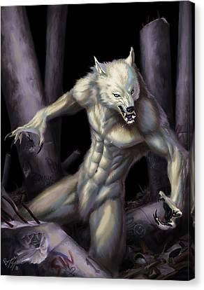 Werewolf Canvas Print by Bryan Syme