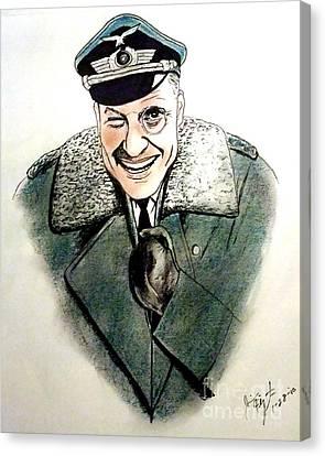 Werner Klemperer As Col Klink On Hogans Heroes   Canvas Print by Jim Fitzpatrick