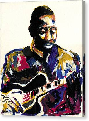 Wes Montgomery Canvas Print by Everett Spruill