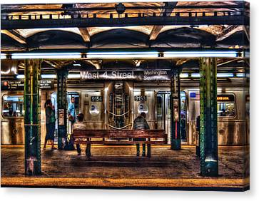 West 4th Street Subway Canvas Print by Randy Aveille