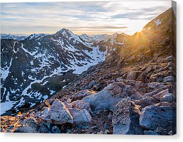 West From Evans Canvas Print by Adam Pender