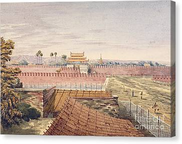West Gate & Part Of City Wall Canvas Print by British Library