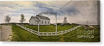 West Liberty Cemetery Canvas Print by Gregory Dyer