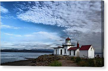 West Point Lighthouse II Canvas Print by Joan Carroll