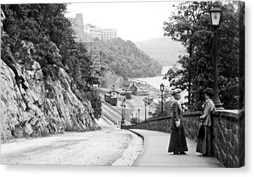 Canvas Print featuring the photograph West Point New York 1914 Vintage Photograph by A Gurmankin