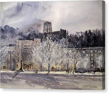 West Point Winter Canvas Print by Sandra Strohschein