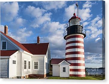 West Quoddy Head Lighthouse Canvas Print by John Greim