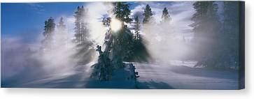West Thumb Geyser Basin Yellowstone Canvas Print by Panoramic Images