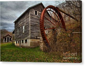 West Virginia Grist Mill Canvas Print by Adam Jewell