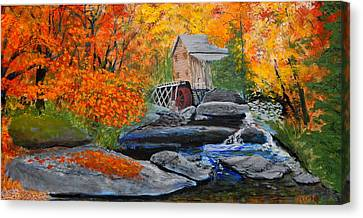 West Virginia Grist Mill Canvas Print by William Tremble