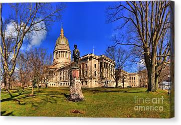West Virginia State Capitol Building Canvas Print by Adam Jewell
