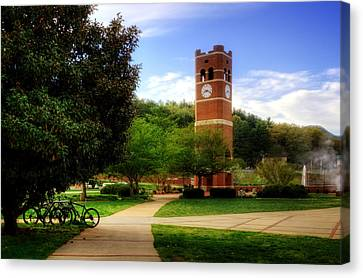 Western Carolina University Alumni Tower Canvas Print by Greg and Chrystal Mimbs