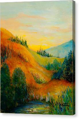 Western Hills Canvas Print by Larry Martin