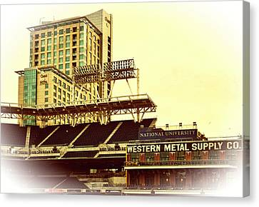 Western Metal-petco Park Canvas Print by See My  Photos