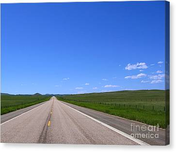 Western Road Canvas Print by Olivier Le Queinec