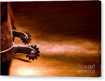 Western Spurs Canvas Print by Olivier Le Queinec
