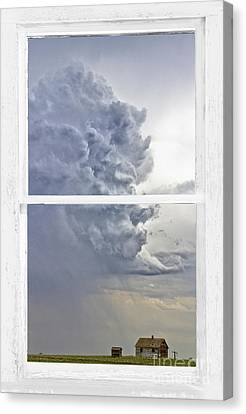 Western Storm Farmhouse Window Art View Canvas Print by James BO  Insogna