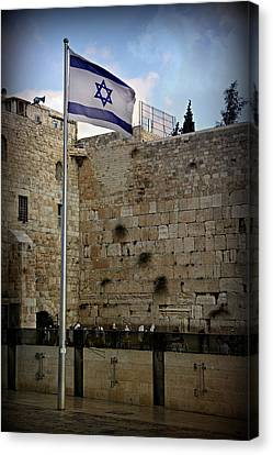 Western Wall Jerusalem Canvas Print by Stephen Stookey