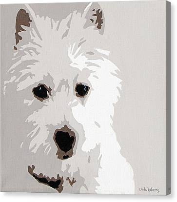 Westie Canvas Print by Slade Roberts