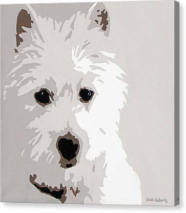 Westie Canvas Print by Slade Roberts