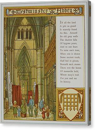 Westminster Abbey Canvas Print by British Library