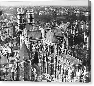 Westminster Abbey In London Canvas Print by Underwood Archives